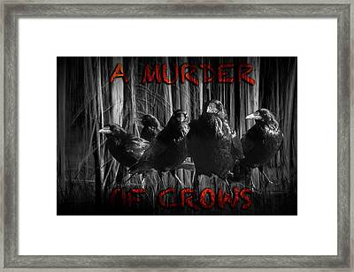 A Murder Of Crows Framed Print by Randall Nyhof