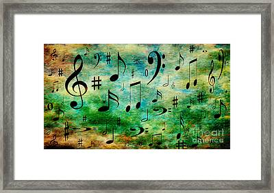 A Musical Storm 2 Framed Print by Andee Design