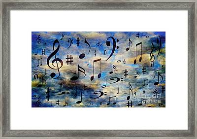 A Musical Storm 3 Framed Print by Andee Design
