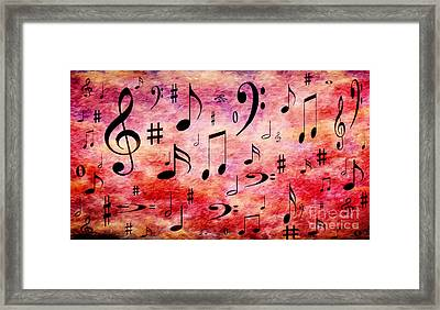 A Musical Storm 4 Framed Print by Andee Design