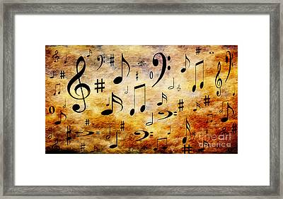 A Musical Storm Framed Print by Andee Design