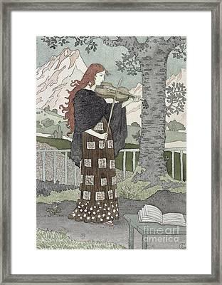A Musician Framed Print by Eugene Grasset