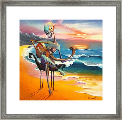 A Musician's Touch Framed Print by Matt Truiano
