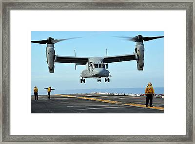 A Mv-22 Osprey Aircraft Prepares Framed Print by Stocktrek Images