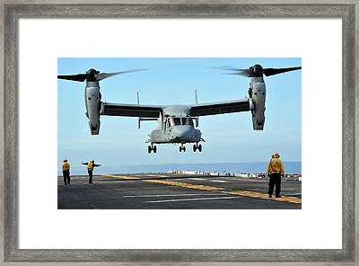 A Mv-22 Osprey Aircraft Prepares Framed Print by Stocktrek Images