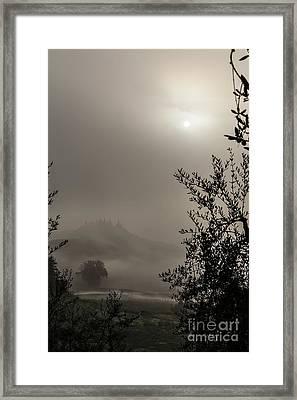 A Mysterious Foggy Morning Framed Print