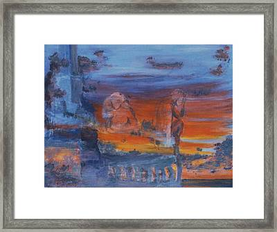 Framed Print featuring the painting A Mystery Of Gods by Steve Karol