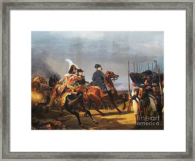 A Napoleonic War At Versailles Framed Print by Al Bourassa