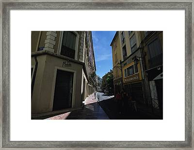 A Narrow Alley In Perpignan, France Framed Print by Stacy Gold