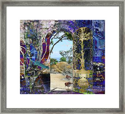 A Narrow But Magical Door Framed Print