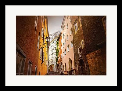 Buildings And Narrow Lanes Framed Prints