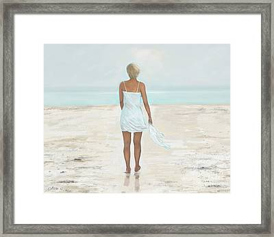 Framed Print featuring the painting A Natural Beauty by Leslie Allen