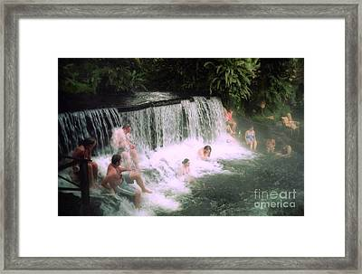 A Natural Warm Shower  Framed Print