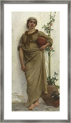 A Neapolitan Flower Seller, 1883  Framed Print