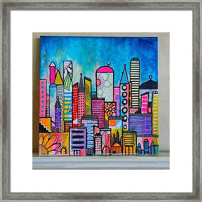 A New 12 X12 #cityscape #collage Framed Print
