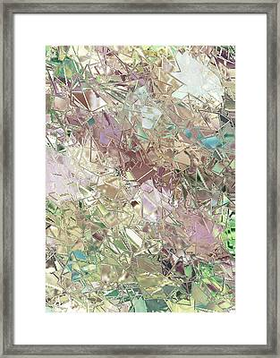 A New Beginning-picking Up The Pieces Framed Print by Diane Siravo