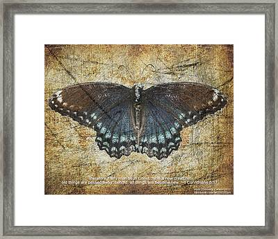 A New Creature Framed Print by Vicki Zimmerly Carson