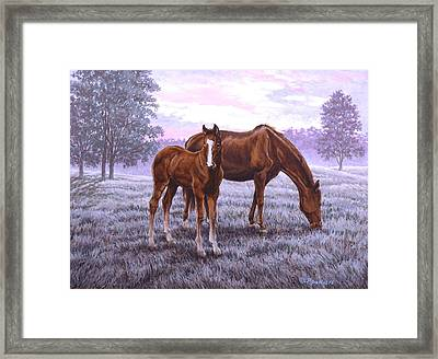 A New Day Begins Framed Print by Richard De Wolfe