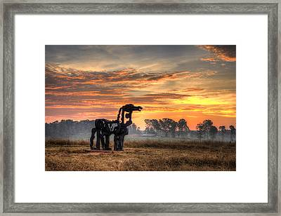 A New Day The Iron Horse Framed Print