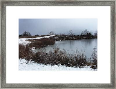 A New Dusting Falling Onto The Valley Framed Print by Terrance DePietro