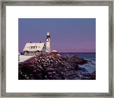 A New England Christmas Different Format Framed Print by M S McKenzie
