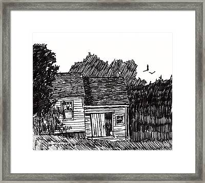 A New England House Framed Print by Bill Tomsa