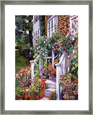 A New England Visit Framed Print by David Lloyd Glover