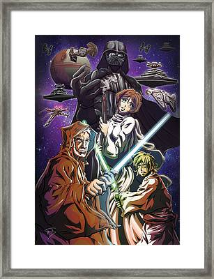 A New Hope Framed Print by Tuan HollaBack