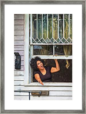 A New Orleans Greeting - Paint Framed Print by Steve Harrington