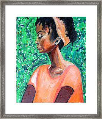 Framed Print featuring the painting A New Queen Of Sheba by Esther Newman-Cohen