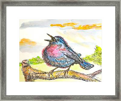 A New Song Framed Print