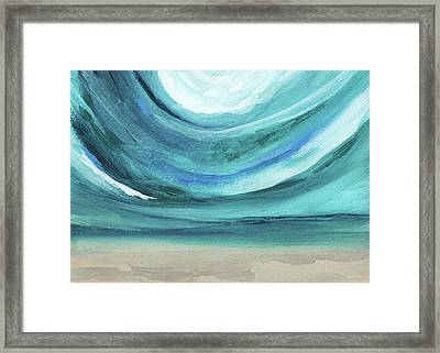 A New Start Wide- Art By Linda Woods Framed Print by Linda Woods