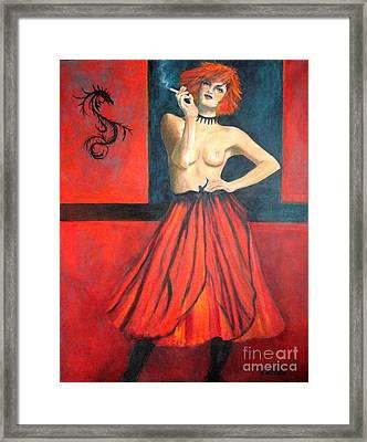 A New Version Of Lisbeth Salander Framed Print