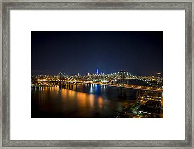 A New York City Night Framed Print