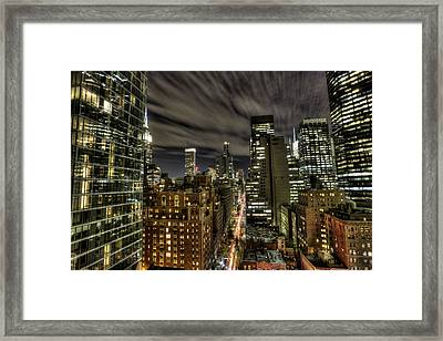 Framed Print featuring the photograph A New York City Night by Shawn Everhart