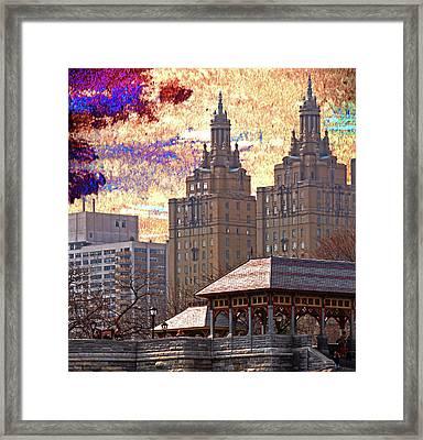 A New York City Skyline Framed Print