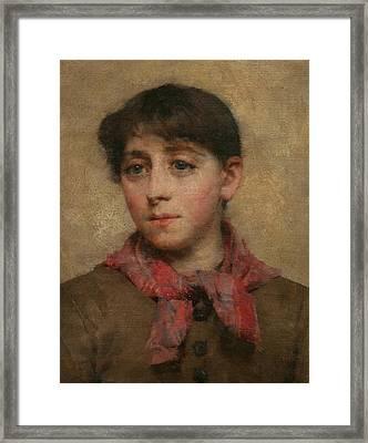 A Newlyn Maid Framed Print by Elizabeth Adela Stanhope Forbes