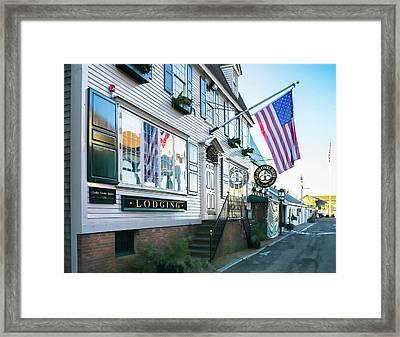 A Newport Wharf Framed Print by Nancy De Flon