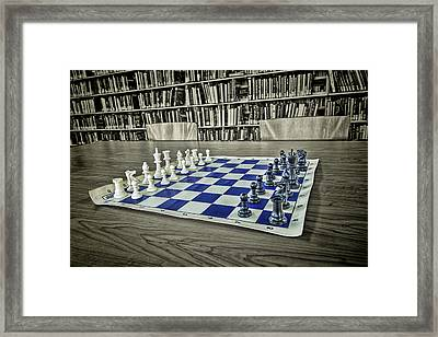 Framed Print featuring the photograph A Nice Game Of Chess by Lewis Mann