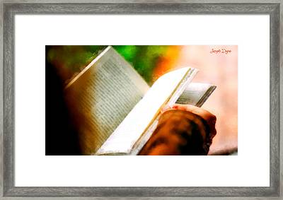 A Nice Reading - Da Framed Print