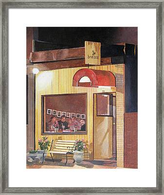A Night At Bresca Framed Print