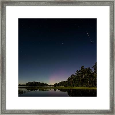 A Night At The Lake Framed Print by Brent L Ander