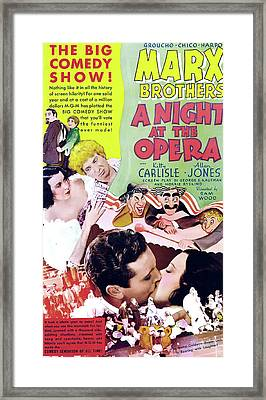 A Night At The Opera 1935 Framed Print by M G M
