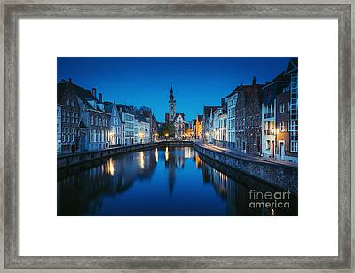A Night In Brugge Framed Print by JR Photography