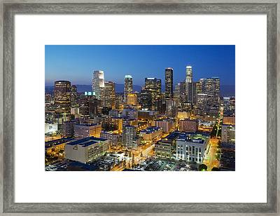 A Night In L A Framed Print