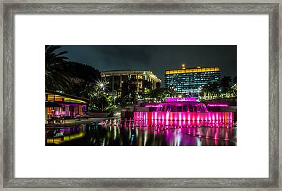 Framed Print featuring the photograph A Night In Los Angeles by April Reppucci