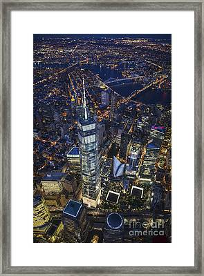 Framed Print featuring the photograph A Night In New York City by Roman Kurywczak