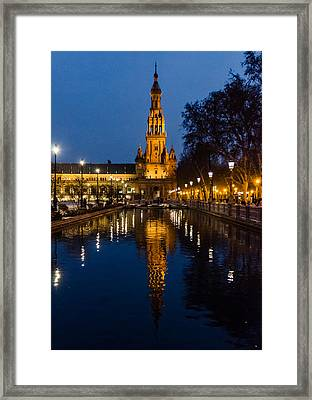 A Night In Seville - Plaza De Espana Framed Print