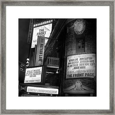 A Night On Broadway II Framed Print