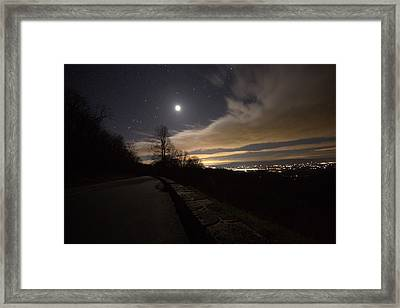 A Night On Skyline Drive Framed Print by Shannon Louder